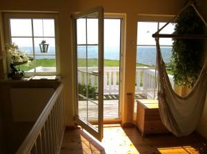 Mein Traumhaus am Meer - Hier:  Unser Balkon mit Blick auf den Greifswalder Bodden