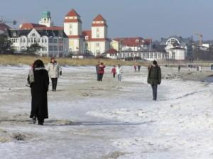 Wohnung kaufen in Binz - Hier: Strand in Binz im Winter