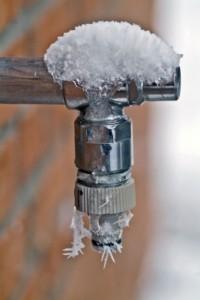 Eigenheim auf Rügen - Hier: Ein eingefrorener Außenwasserhahn